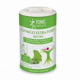 GINKGO EXTRA FORT BACOPA 80 GELULES TONIC NATURE