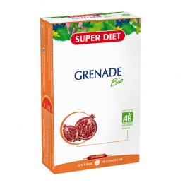SUPERDIET GRENADE BIO FRUIT ENTIER 20 AMPOULES 15ML