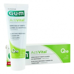 GUM ACTIVITAL Q10 DENTIFRICE GENCIVES ET DENTS SAINES 75ML