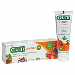 GUM JUNIOR GEL DENTIFRICE FLUOR + ISOMALT 7-12 ANS 50ML