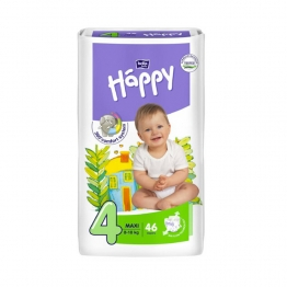 HAPPY COUCHES MAXI TAILLE 4 DE 8 A 18KG 46 UNITES
