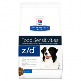HILLS PRESCRIPTION DIET FOOD SENSITIVIES Z/D CHIEN CROQUETTES POULET 8KG
