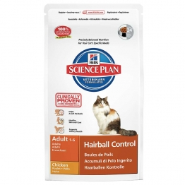 HILLS SCIENCE PLAN HAIRBALL CONTROL CHAT ADULTE 1 A 6 ANS CROQUETTES POULET 1.5KG