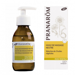HUILE DE MASSAGE NEUTRE BIO 100ML HULE VEGETALE PRANAROM
