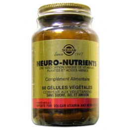 SOLGAR NEURO NUTRIENTS 60 GELULES VEGETALES