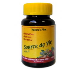 NATURE 'S SOURCE DE VIE ADULTE 60 COMPRIMES