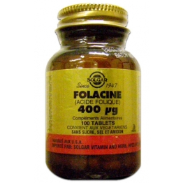 SOLGAR FOLACINE 0,4MG 100 TABLETS