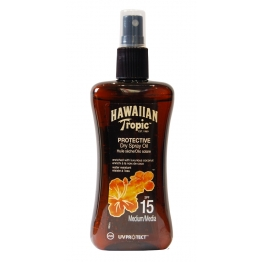HAWAIIAN TROPIC HUILE SÈCHE SPF15 SPRAY 200ML
