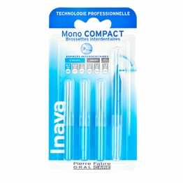 INAVA BROSSETTES INTERDENTAIRES MONO COMPACT BLEU 0.7MM X4