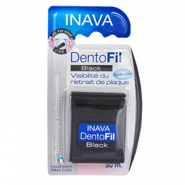 INAVA DENTOFIL BLACK FIL FIN CIRE DENTAIRE 50M