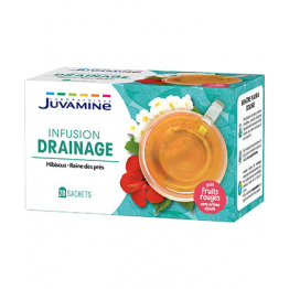 INFUSION DRAINAGE FRUITS ROUGES 20 SACHETS JUVAMINE