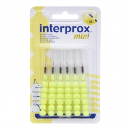 INTERPROX MINI BROSSETTES INTERDENTAIRES JAUNE X6