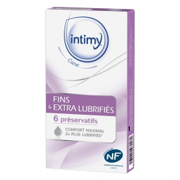 INTIMY CARE PRESERVATIFS FIN EXTRA LUBRIFIES X6