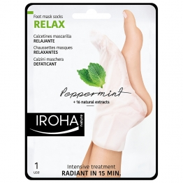 IROHA CHAUSSETTES MASQUES RELAXANTE MENTHE X2 UNITES