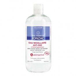 JONZAC EAU MICELLAIRE ANTI-AGE A L'ACIDE HYALURONIQUE SUBLIMACTIVE BIO 500ML