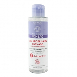 JONZAC EAU MICELLAIRE ANTI-AGE A L'ACIDE HYALURONIQUE SUBLIMACTIVE BIO 150ML