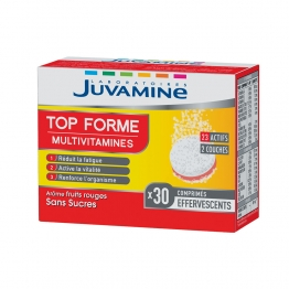JUVAMINE TOP FORME MULTIVITAMINES 30 COMPRIMES EFFERVESCENTS