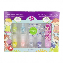 KIT DE MINI VERNIS PARTY PALETTE 10X2ML + LIME A ONGLES + STICKERS SUNCOAT GIRL