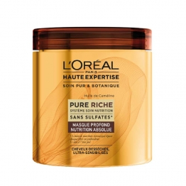 L'OREAL HAUTE EXPERTISE PURE RICHE MASQUE PROFOND NUTRITION ABSOLUE CHEVEUX SECS 200ML