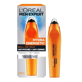 L'OREAL MEN EXPERT HYDRA ENERGETIC ROLL-ON BILLE GLACEE YEUX ANTI POCHES ET ANTI CERNES 10ML