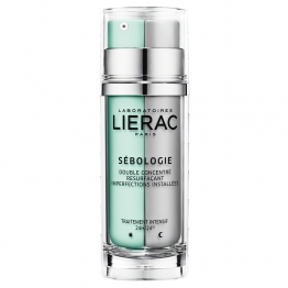 LIERAC SEBOLOGIE DOUBLE CONCENTRE RESURFACANT IMPERFECTIONS INSTALLEES JOUR ET NUIT 2X15ML