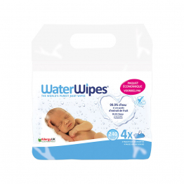 Lingettes Bebe 4x60 Waterwipes