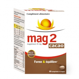 MAG 2 FORME ET EQUILIBRE 60 COMPRIMES A CROQUER CACAO COOPER