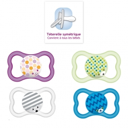 MAM SUCETTE ANATOMIQUE SILICONE AIR 18 MOIS + X2