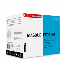 Masques TYPE FFP2 NR x20 Marquage CE - Norme EN149.2001+A1:2009 Orgakiddy