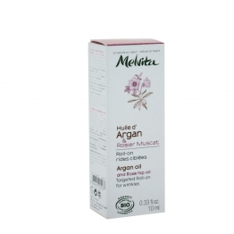 MELVITA ROLL ON RIDES CIBLEES A L'HUILE D'ARGAN ET AU ROSIER MUSCAT BIO 10ML