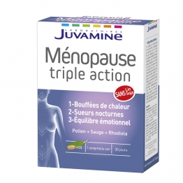 MENOPAUSE 30 COMPRIMES TRIPLE ACTION JUVAMINE