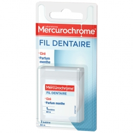 MERCUROCHROME FIL DENTAIRE CIRÉ MENTHOLÉ 60M