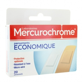 MERCUROCHROME PANSEMENT ECONOMIQUE X20