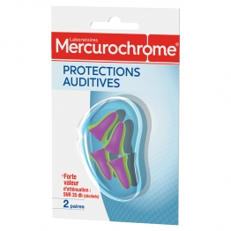 MERCUROCHROME PROTECTIONS AUDITIVES 2 PAIRES