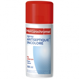 MERCUROCHROME SPRAY ANTISEPTIQUE INCOLORE 100ML