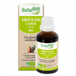 MIDOGEM CONFORT BIO 30ML CIRCULATION CEREBRALE HERBALGEM