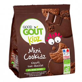 MINI COOKIDZ BISCUITS CHOCOLAT BIO 115G KIDZ DES 3 ANS GOOD GOUT