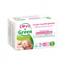 Mini, 3 à 6 kg 36 couches Taille 2 Love&Green