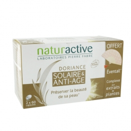 NATURACTIVE DORIANCE ANTI AGE SOLAIRE 2X60 CAPSULES + EVENTAIL