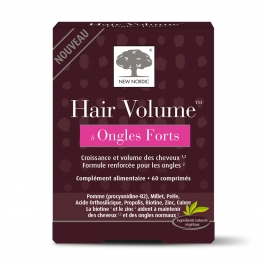 NEW NORDIC HAIR VOLUME ONGLES FORTS 60 COMPRIMES