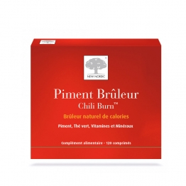 NEW NORDIC PIMENT BRULEUR CHILI BURN 120 COMPRIMES