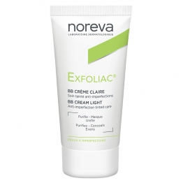 NOREVA EXFOLIAC BB CREME CLAIRE SOIN TEINTE ANTI-IMPERFECTIONS 30ML