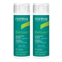 NOREVA EXFOLIAC GEL MOUSSANT INTENSIF PEAUX A IMPERFECTIONS 2X200ML