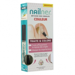 NAILNER TRAITE ET COLORE 2X5ML