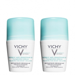 VICHY DEODORANT TRAITEMENT ANTI-TRANSPIRANT 48H ROLL-ON 2X50ML