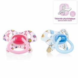 NUBY SUCETTE ORTHODENTIQUE EN SILICONE COLLECTION GEO 0-6MOIS