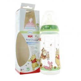 NUK BIBERON WINNIE TETINE SILICONE FIRST CHOICE TAILLE 1M 0-6 MOIS 300ML