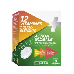 NUTRISANTE 12 VITAMINES + 7 OLIGO-ELEMENTS 24 COMPRIMES