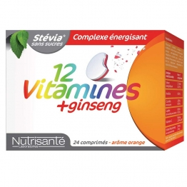 NUTRISANTE 12 VITAMINES + GINSENG 24 COMPRIMES
