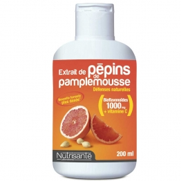 NUTRISANTE EXTRAITS DE PEPINS DE PAMPLEMOUSSE DEFENSES NATURELLES 200 ML